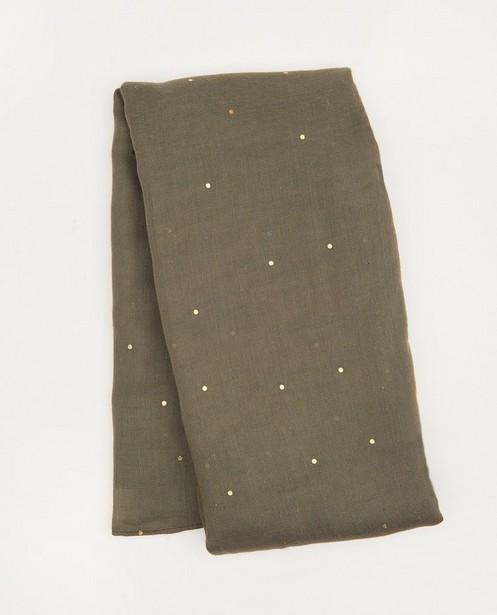 Kakigroene sjaal met stippen Pieces - allover - Pieces
