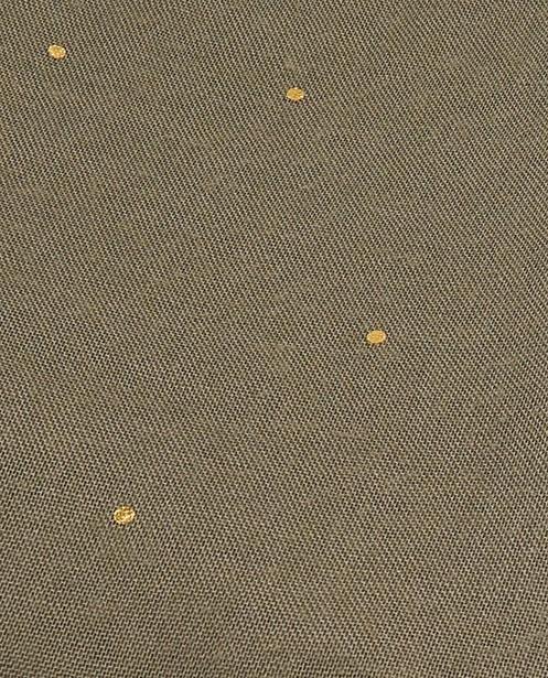 Breigoed - Kakigroene sjaal met stippen Pieces