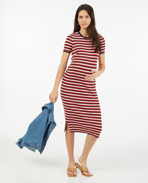 Gestreepte T-shirtjurk JoliRonde - zwangerschap - Joli Ronde
