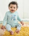 Gestreepte pyjama met meegroeibroekje - met opschrift - Cuddles and Smiles