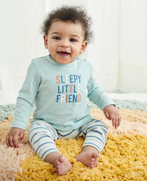 Pyjama rayé avec un pantalon évolutif - à inscription - Cuddles and Smiles