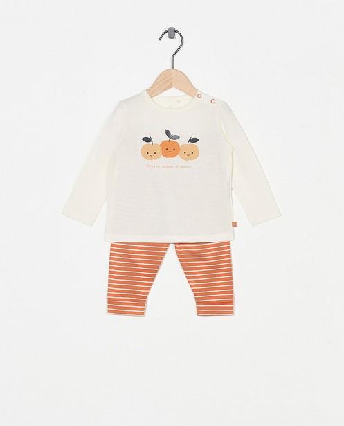 Gestreepte pyjama met meegroeibroekje - allover - Cuddles and Smiles