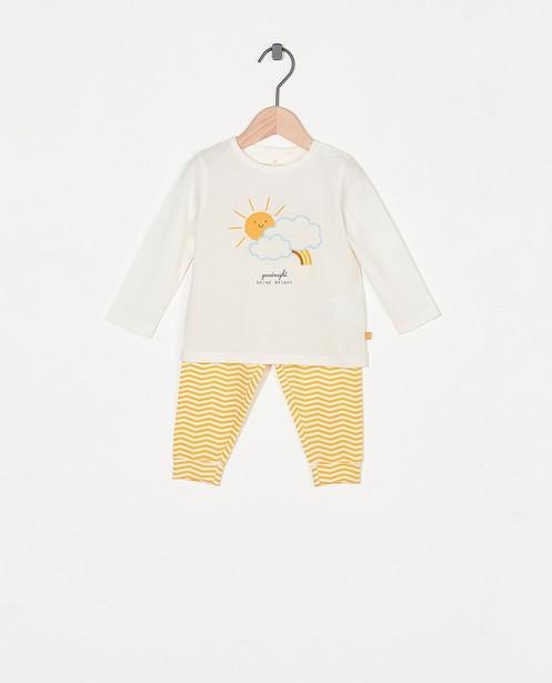 Tweedelige pyjama met meegroeibroekje - met print - Cuddles and Smiles