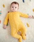 Pyjama jaune imprimé à arcs-en-ciel - imprimé intégral - Cuddles and Smiles