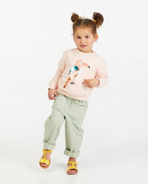 Biokatoenen sweater met pailletten - toekan - Milla Star
