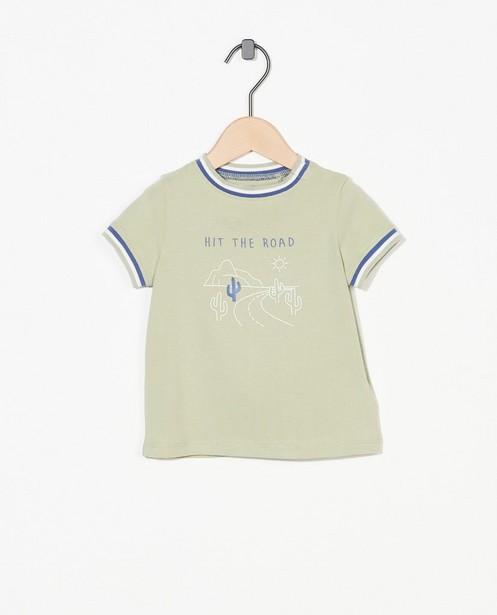 T-shirt vert à imprimé - stretch - Cuddles and Smiles