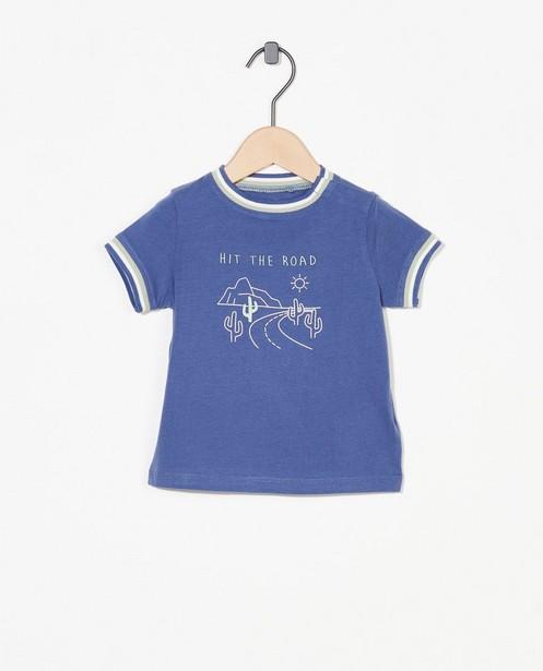 T-shirt bleu à imprimé - stretch - Cuddles and Smiles