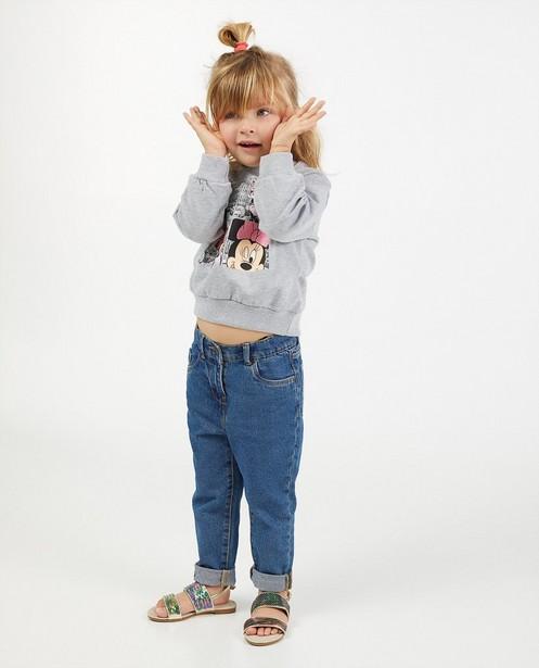 Sweat gris Minnie, 2-7 ans - imprimé - Mickey