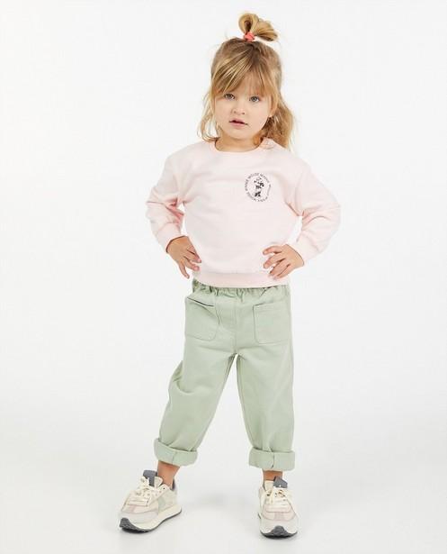 Roze sweater met Minnie, 2-7 jaar - stretch - Mickey