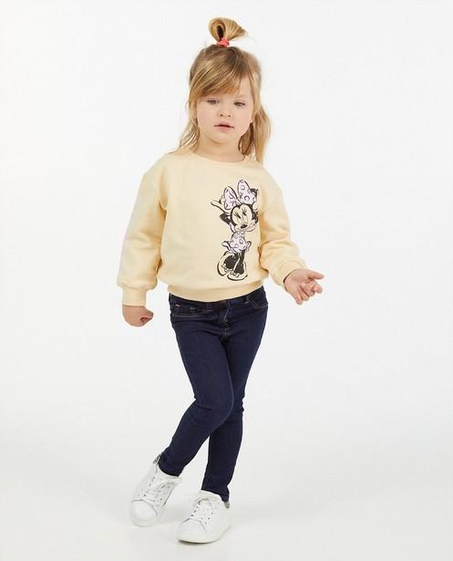 Sweat beige Minnie, 2-7 ans - imprimé - Mickey