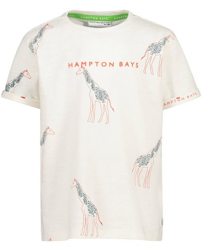Offwhite T-shirt met print Hampton Bays