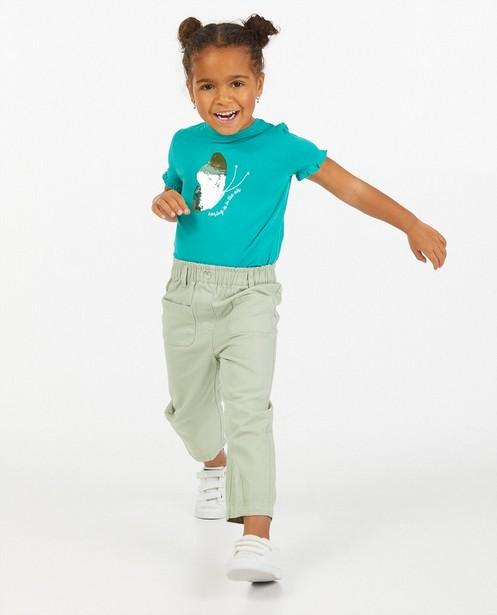 Mintgroene jeans met loose fit Maya - met hoge taille - Maya