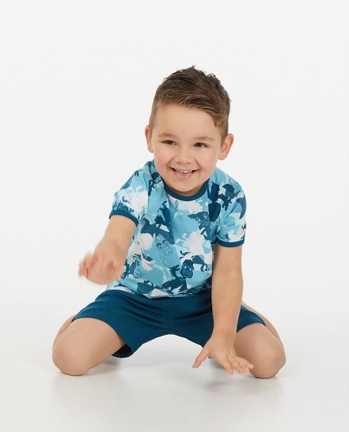 Blauwe pyjama met print Fabeltjeskrant - tweedelig - Fabeltjeskrant
