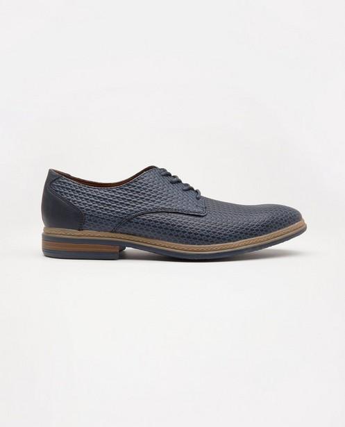 Donkerblauwe schoenen, maat 40-46 - met ingekerfd patroon - Sprox