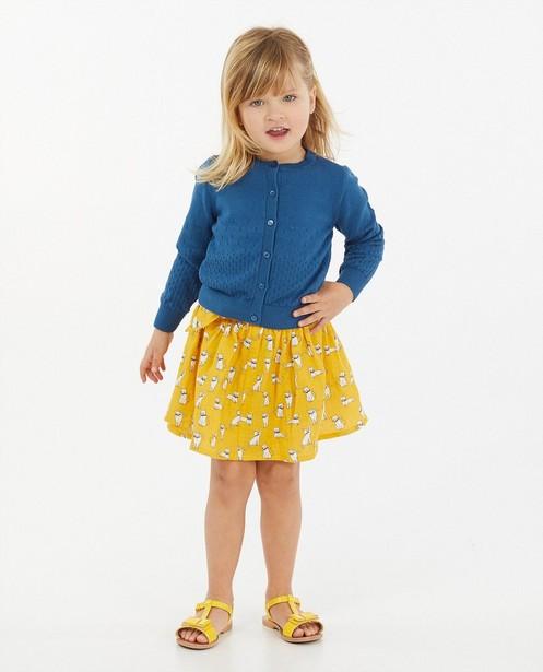 Cardigan bleu à motif ajouré - en tricot - Milla Star