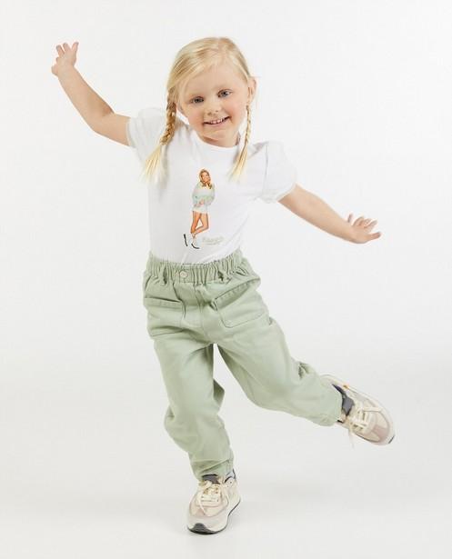 Wit T-shirt met fotoprint K3 - met tule - K3