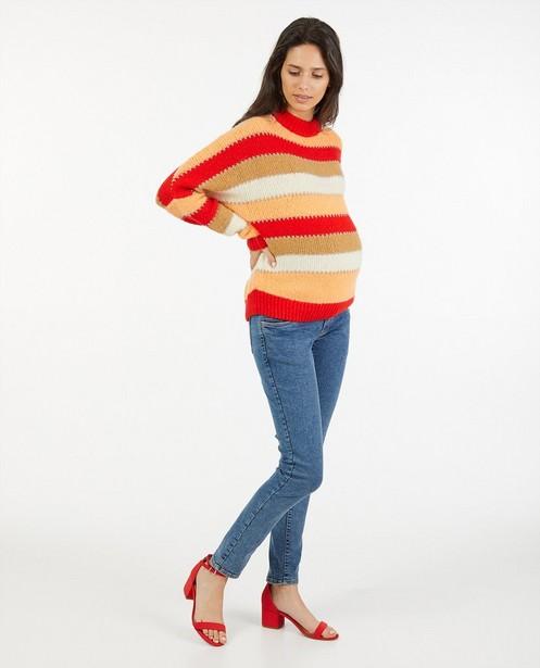 Gebreide trui met strepen JoliRonde - zwangerschap - Joli Ronde