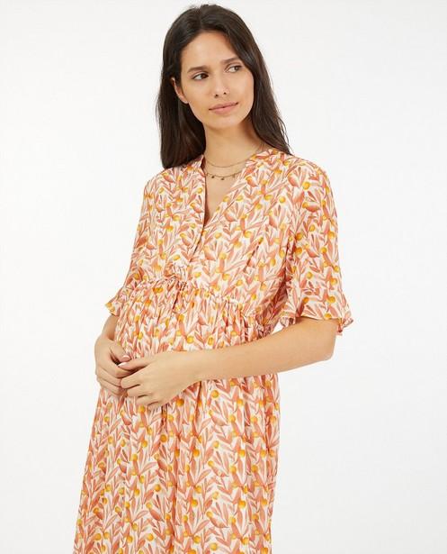 Oranje jurk met print JoliRonde - zwangerschap - Joli Ronde
