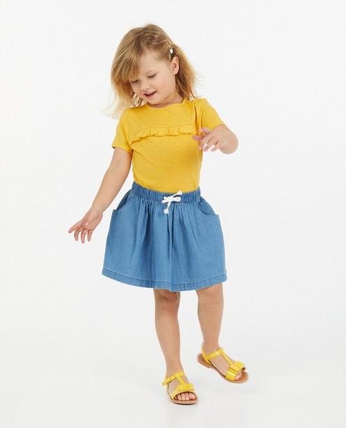 Jupe bleue en chambray - avec cordon de serrage sous tunnel - Milla Star