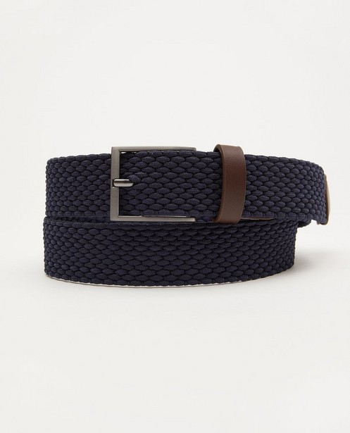 Donkerblauwe riem - gevlochten - JBC