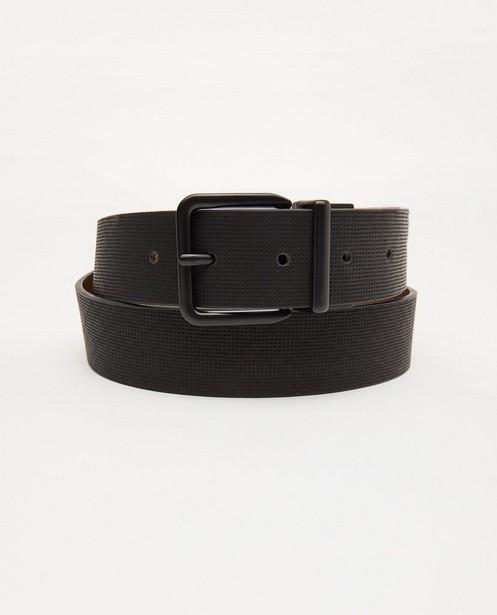 Zwarte-bruine omkeerbare riem - met mat zwarte gesp - JBC