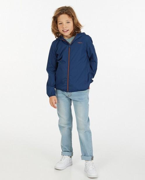 Veste repliable bleue, 7-14 ans - enroulable dans la poche - Fish & Chips