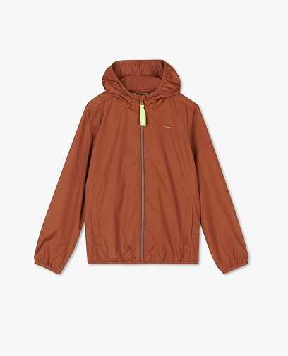Bruine packable jacket, 7-14 jaar