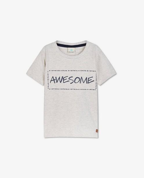 Lichtgrijs T-shirt met opschrift EnFant - gemêleerd - Enfant