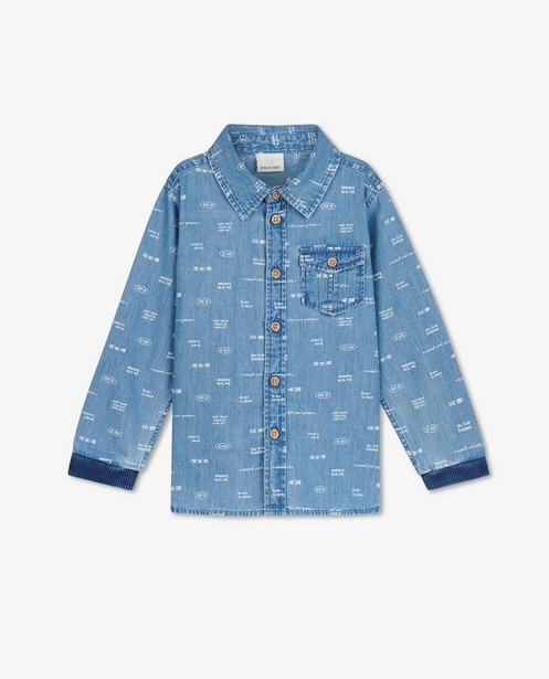 Blauw hemd met opschrift EnFant - allover - Enfant