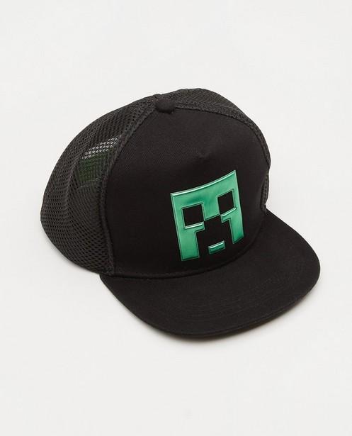 Breigoed - Zwarte Minecraft-pet met print