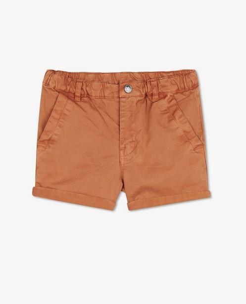 Short brun orangé Enfant - avec taille ajustable - Enfant