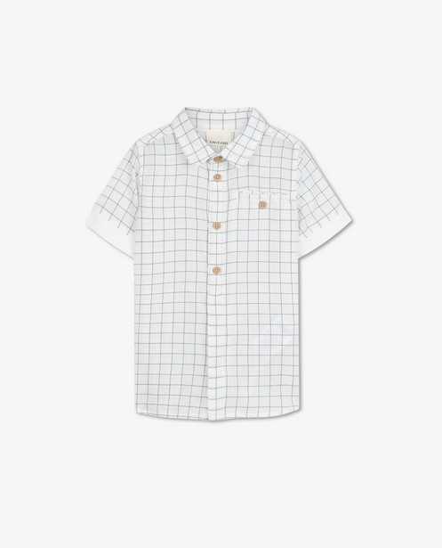 Wit hemd met ruitpatroon EnFant - allover - Enfant