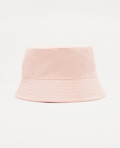 Roze vissershoedje - effen - Milla Star