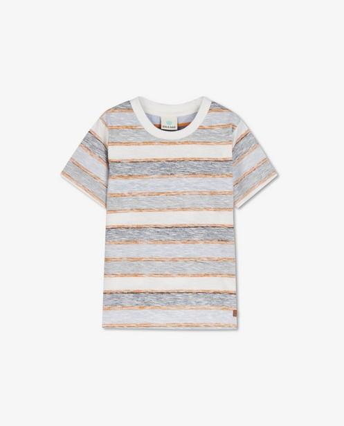 Wit T-shirt met strepen EnFant - vervaagd effect - Enfant