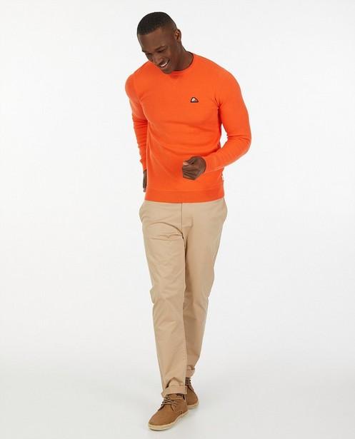 Pull orange Hampton Bays - fin tricot - Hampton Bays
