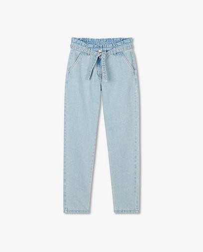Jeans bleu clair paperbag waist