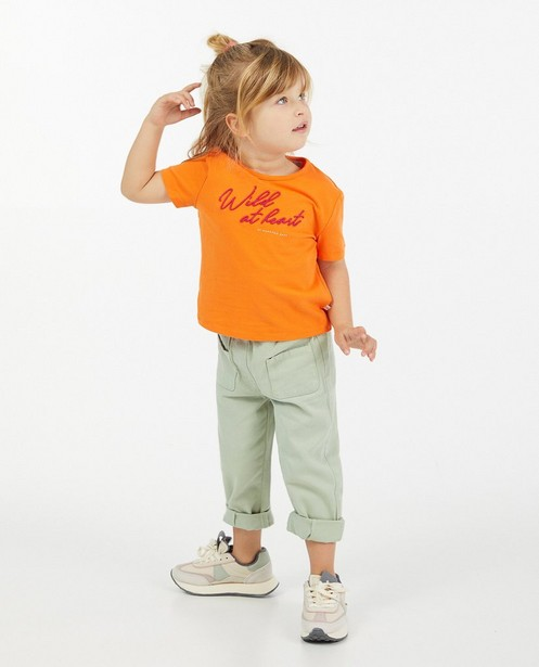 T-shirt orange Hampton Bays - à inscription - Hampton Bays