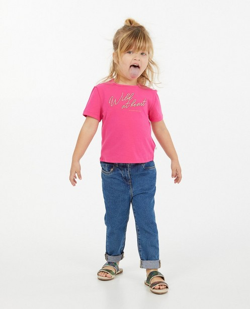 Fuchsia T-shirt Hampton Bays - met opschrift - Hampton Bays