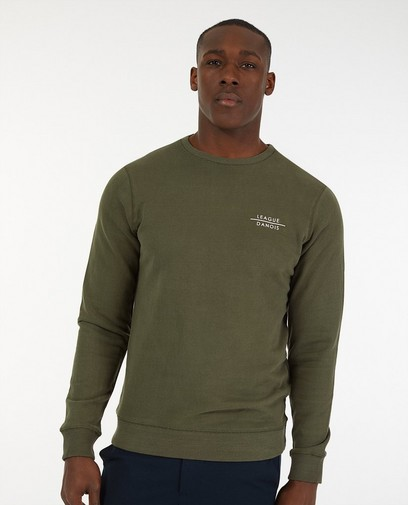 Groene sweater League Danois