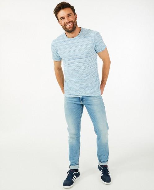 Gemêleerd blauw T-shirt League Danois - met print - League Danois