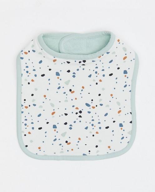 Babyspulletjes - Set van 2 slabbetjes: blauw en wit