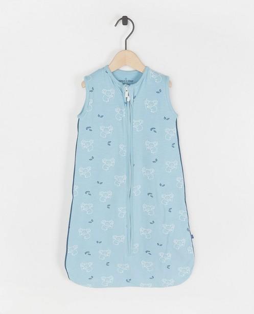 Sac de couchage bleu à imprimé - imprimé intégral - Cuddles and Smiles