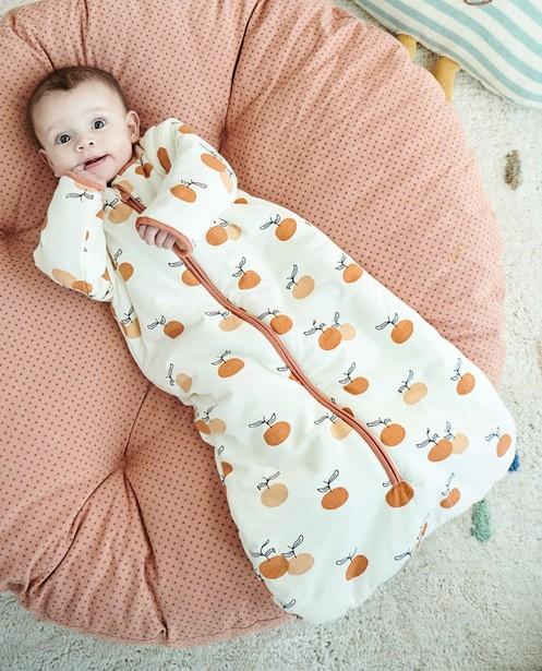 Sac de couchage blanc à manches amovibles par zip - à imprimé intégral - Cuddles and Smiles