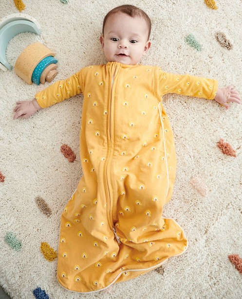 Sac de couchage ocre à imprimé - imprimé intégral - Cuddles and Smiles
