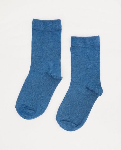 Chaussettes bleues à paillettes - tissage intégral - JBC