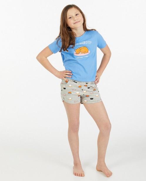 Biokatoenen pyjama met print - tweedelig - Fish & Chips
