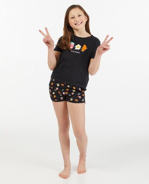 Pyjama en coton bio à imprimé - deux pièces - Fish & Chips