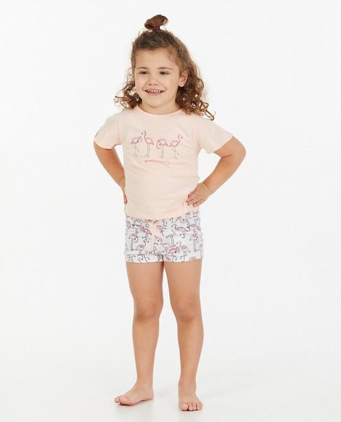 Pyjama rose à imprimé - deux pièces - Milla Star