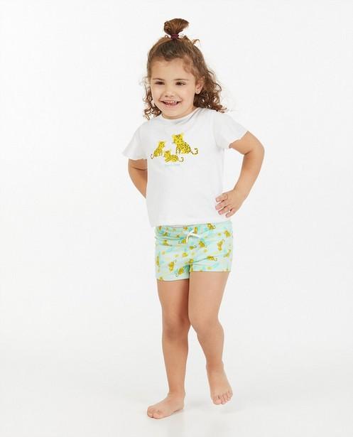 Witte pyjama met print - tweedelig - Milla Star
