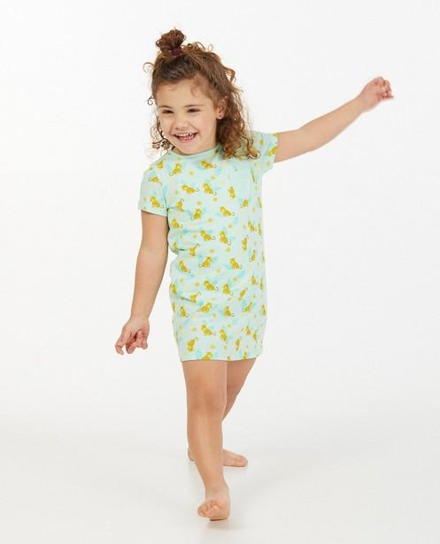 Mintgroen nachtkleed met print - allover - Milla Star